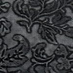 № 114 Цветы черный + серебро